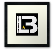 LB PERFORMANCE : GIFT 2 Framed Print