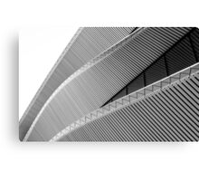Lines in black and white Canvas Print