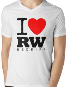 RAUH-WELT BEGRIFF : I LOVE Mens V-Neck T-Shirt