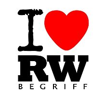 RAUH-WELT BEGRIFF : I LOVE Photographic Print