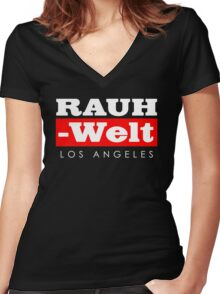 RAUH-WELT BEGRIFF : Los Angeles Women's Fitted V-Neck T-Shirt