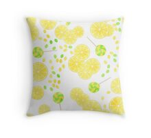 Patterns of fruit and berries. Throw Pillow