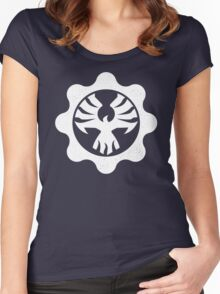 Gears of War 4 - Cog Emblem Women's Fitted Scoop T-Shirt