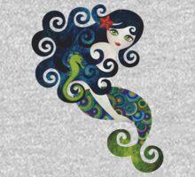 Aquamarine Mermaid One Piece - Long Sleeve