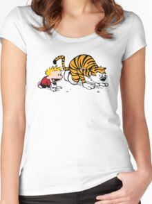 Calvin And Hobbes : Get Set, Ready, Go ... Women's Fitted Scoop T-Shirt