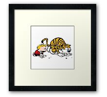 Calvin And Hobbes : Get Set, Ready, Go ... Framed Print