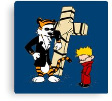 Calvin And Hobbes : Detective Canvas Print