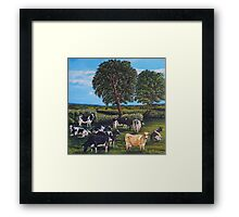 Nein Cows Framed Print