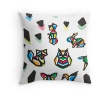 Rainbow Anigami Composition Throw Pillow