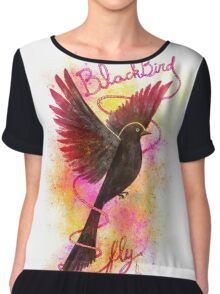 Blackbird... fly! Chiffon Top