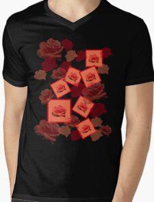 Red Rose Mens V-Neck T-Shirt