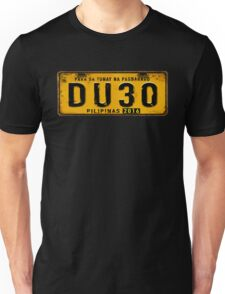 DUTERTE plate number (rustic) Unisex T-Shirt