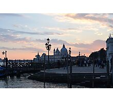 Venice in pastel colors. Photographic Print