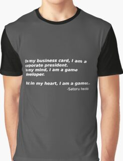 A quote from Satoru Iwata Graphic T-Shirt