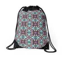 Intricate Colorful Pattern Drawstring Bag