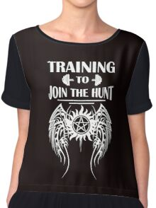 Training To Join The Hunt. SPN. Supernatural. Dean Winchester. Sam Winchester Chiffon Top