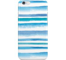 Blue watercolor stripes iPhone Case/Skin