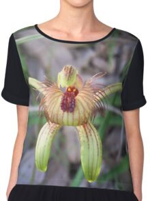 Amazing Aussie Bee Orchid Chiffon Top