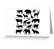 the animal image on white background,vector illustration Greeting Card