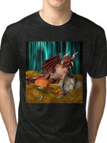 3D Illustration Dragon Treasure Tri-blend T-Shirt