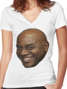 Ainsley Harriott (or lord and saviour) Women's Fitted V-Neck T-Shirt
