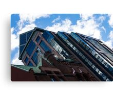 Color Matching Old and New - Downtown Toronto Juxtaposition Left Canvas Print