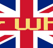 Union Jack Flag - Doctor Who Homage - England Sticker Sticker