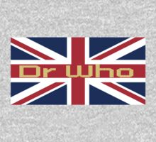Union Jack Flag - Doctor Who Homage - England Sticker One Piece - Long Sleeve