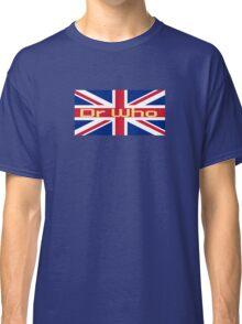 Union Jack Flag - Doctor Who Homage - England Sticker Classic T-Shirt
