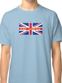 Union Jack Flag - Doctor Who Homage - England Sticker Classic T-Shirt