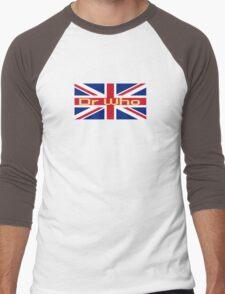Union Jack Flag - Doctor Who Homage - England Sticker Men's Baseball ¾ T-Shirt