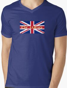 Union Jack Flag - Doctor Who Homage - England Sticker Mens V-Neck T-Shirt