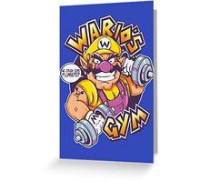 WARIO'S GYM Greeting Card