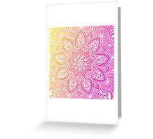 Orange and pink mandala Greeting Card