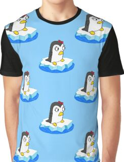 Girly Penguin Graphic T-Shirt