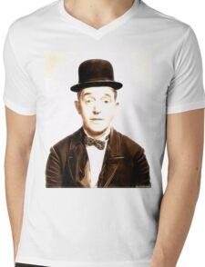 Stan Laurel by JS Mens V-Neck T-Shirt