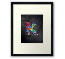 Fun Letter - K Framed Print
