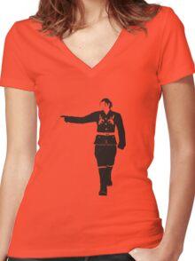 Sergei Women's Fitted V-Neck T-Shirt