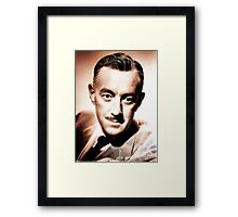 Sir Alec Guiness by JS Framed Print