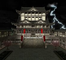 3D Illustration Japanese Temple by Vac1