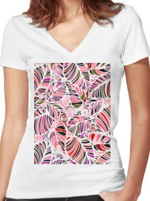 Evening in the Garden Women's Fitted V-Neck T-Shirt
