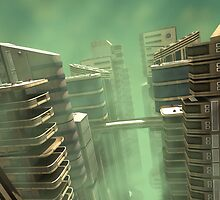 3D Illustration Futuristic City by Vac1
