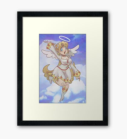 Blond Angel Girl Framed Print