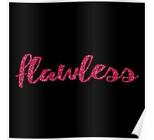 flawless pink glitter design Poster