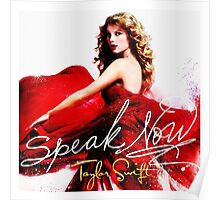 Taylor Swift Speak Now Red Poster