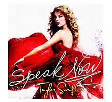 Taylor Swift Speak Now Red Photographic Print