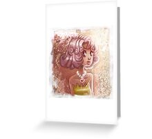 Curly Pink Hair Greeting Card