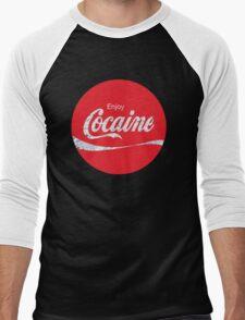 Circular Coca Coke Cola Cocaine  Men's Baseball ¾ T-Shirt