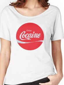 Circular Coca Coke Cola Cocaine  Women's Relaxed Fit T-Shirt