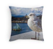 Modern Seagul Throw Pillow
